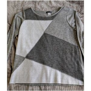 Grey abstract sweater